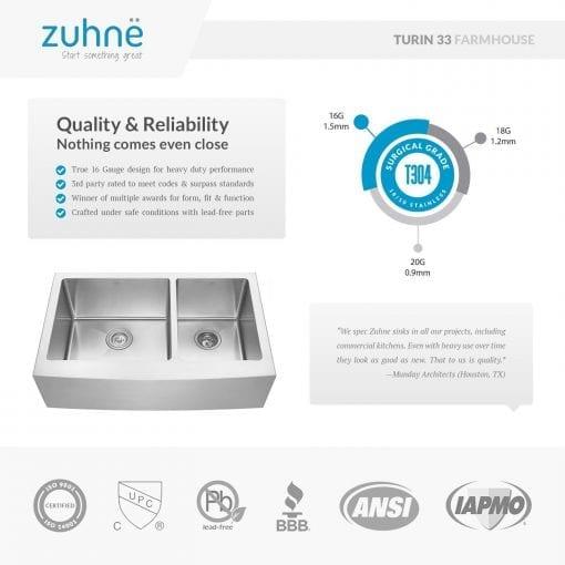 Zuhne Farmhouse Stainless Steel Kitchen Sink 4 510x510