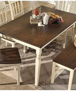 Groovy Ashley Furniture Signature Design Whitesburg Rectangular Dining Room Table Casual Style Brown Cottage White Interior Design Ideas Apansoteloinfo