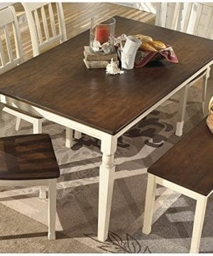 Ashley Furniture Signature Design Whitesburg Dining Room Table Rectangular Vintage Casual BrownCottage White 0 0 300x360