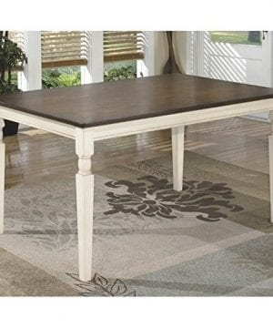 Ashley Furniture Signature Design Whitesburg Dining Room Table Rectangular Vintage Casual BrownCottage White 0 300x360