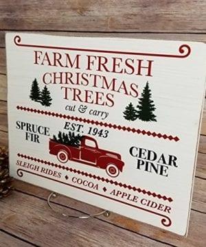 Farmhouse Christmas Sign 925 X 1175 Farm Fresh Christmas Trees Rustic Wooden Sign Christmas Trees For Sale Farmhouse Christmas Decor Christmas Gift Holiday Decor 0 1 300x360