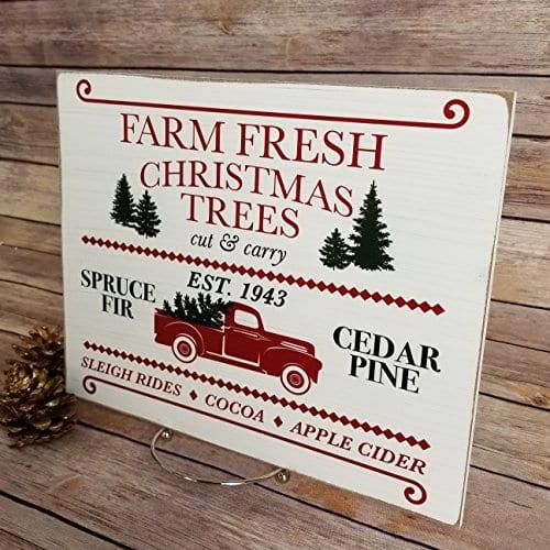 Farmhouse Christmas Sign 925 X 1175 Farm Fresh Christmas Trees Rustic Wooden Sign Christmas Trees For Sale Farmhouse Christmas Decor Christmas Gift Holiday Decor 0 1