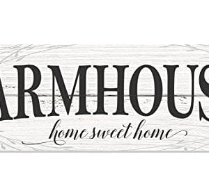 Farmhouse Home Sweet Home Rustic Wood Wall Sign 6x18 0 300x281