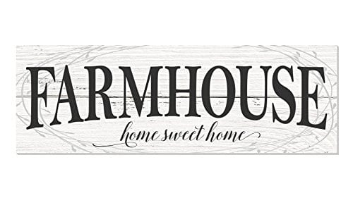 Farmhouse Home Sweet Home Rustic Wood Wall Sign 6x18 0