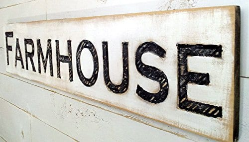 Large Farmhouse Sign 48x10 Carved Horizontal Cypress Lumber Rustic Wood Distressed Shabby Style Decor 0 0