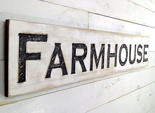 Large Farmhouse Sign 48x10 Carved Horizontal Cypress Lumber Rustic Wood Distressed Shabby Style Decor 0