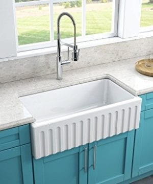 Latoscana 33 Reversible Fireclay Farmhouse Sink LFS3318W With Matching Grid 0 0 300x360