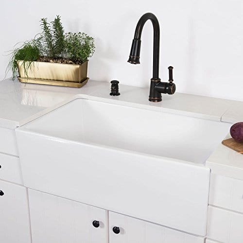MAYKKE Surrey 30 Fireclay Farmhouse Kitchen Sink YSA1310101 0 2
