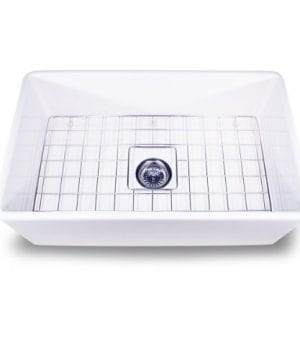 Nantucket Sinks T FCFS 30 30 Inch Single Bowl Fireclay Farmhouse Kitchen Sink White 0 300x360