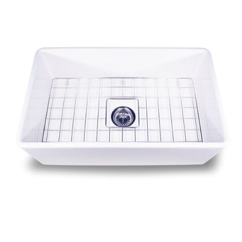 Nantucket Sinks T FCFS 30 30 Inch Single Bowl Fireclay Farmhouse Kitchen Sink White 0