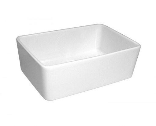 Whitehaus Single Basin White Fireclay Farmhouse Sink