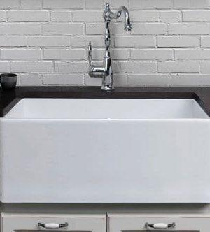 alfi brand smooth fireclay farmhouse kitchen sink 1