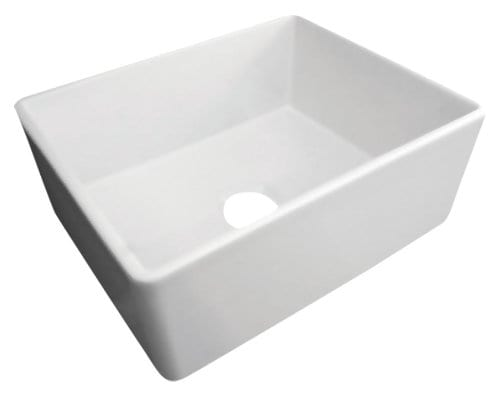alfi brand smooth fireclay farmhouse kitchen sink 2