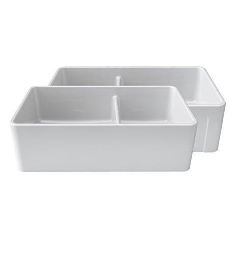 latoscana reversible double bowl fireclay farmhouse sink 2