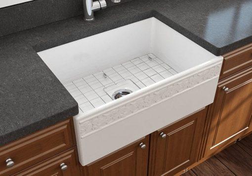 vigneto farmhouse apron front fireclay kitchen sink 1