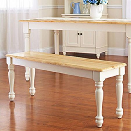 white dining room set with bench 2