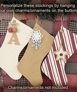 18 Button Charm Christmas Stocking By Jubilee Creative Studio 0 300x360