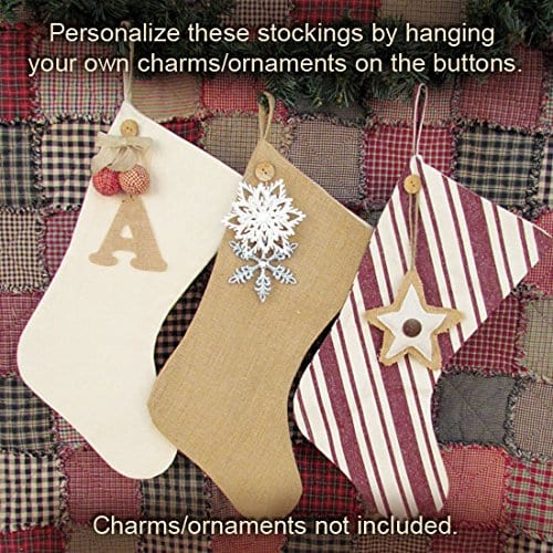 18 Button Charm Christmas Stocking By Jubilee Creative Studio 0