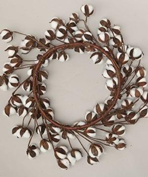 24 Inch Real Cotton Wreath Farmhouse Decor Christmas Vintage Wreath 0 1 300x360