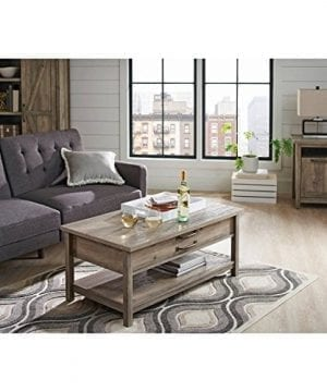 Better Homes And Gardens Modern Farmhouse Top Lifts Up And Forward Coffee Table Rustic Gray Finish 0 300x360