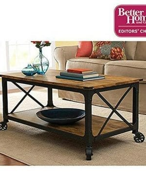 Better Homes And Gardens Rustic Country Coffee Table Antiqued BlackPine Finish By Better Homes Gardens 0 300x360