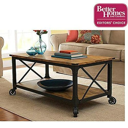 Better Homes And Gardens Rustic Country Coffee Table Antiqued BlackPine Finish By Better Homes Gardens 0