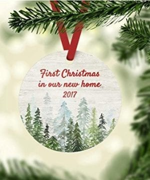 Christmas Ornament First Christmas In Our New Home Customize The Year 0 0 300x360