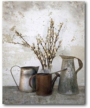 Courtside Market Farmhouse Three Watering Cans Graphic Art On Wrapped Canvas Gallery Multi 0 0 300x360