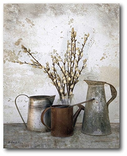 Courtside Market Farmhouse Three Watering Cans Graphic Art On Wrapped Canvas Gallery Multi 0 0