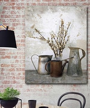 Courtside Market Farmhouse Three Watering Cans Graphic Art On Wrapped Canvas Gallery Multi 0 300x360