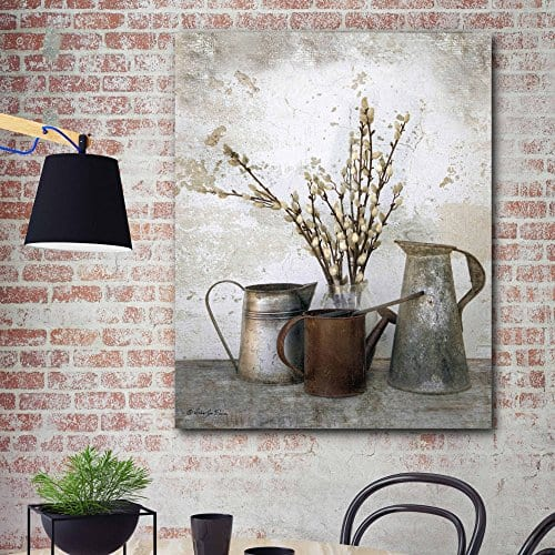 Courtside Market Farmhouse Three Watering Cans Graphic Art On Wrapped Canvas Gallery Multi 0