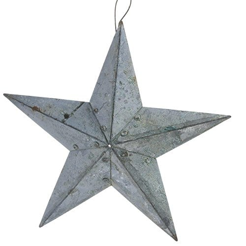Home Made Modern Craft Of The Week 2 Rustic Christmas Stars: Farmhouse Blue Patina Copper Metal 5 Point Barn Star, Pack