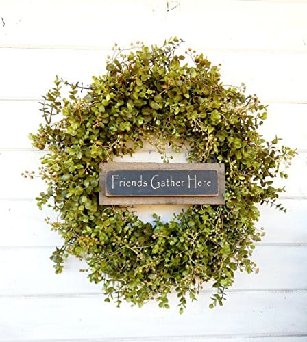 Fall Wreath Door Wreath Door Sign Eucalyptus Wreath Fall Winter Winter Wreath Spring Wreath Farmhouse Wreath Home Decor Housewarming Gift Year Round Wreath Christmas Gift 0