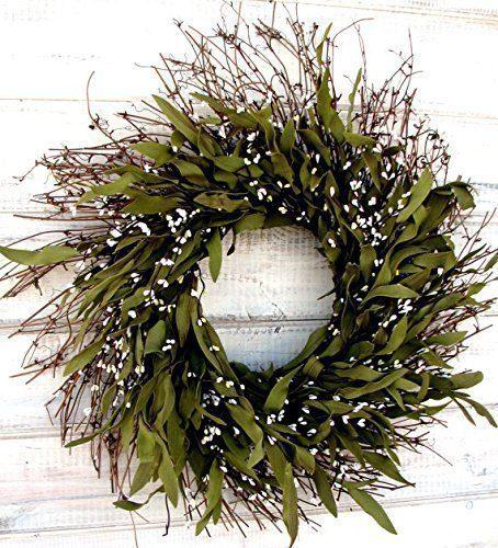 Fall Wreath Winter Wreath Summer Wreath Spring Wreath Rustic Twig Wreath Bay Leaf Wreath Farmhouse Wreath Holiday Decor Christmas Wreath Year Round Wreath Door Wreath Housewarming Gift 0 0