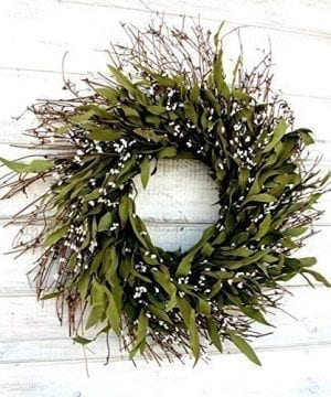 Fall Wreath Winter Wreath Summer Wreath Spring Wreath Rustic Twig Wreath Bay Leaf Wreath Farmhouse Wreath Holiday Decor Christmas Wreath Year Round Wreath Door Wreath Housewarming Gift 0 300x360