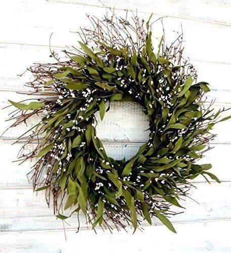 Fall Wreath Winter Wreath Summer Wreath Spring Wreath Rustic Twig Wreath Bay Leaf Wreath Farmhouse Wreath Holiday Decor Christmas Wreath Year Round Wreath Door Wreath Housewarming Gift 0