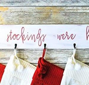 Farmhouse Christmas Stocking Hanger Wall Mount 0 1 300x287