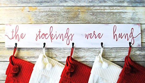 Farmhouse Christmas Stocking Hanger Wall Mount 0 1