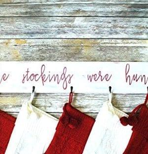 Farmhouse Christmas Stocking Hanger Wall Mount 0 3 300x311
