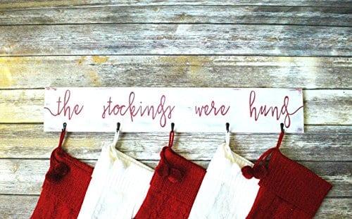 Farmhouse Christmas Stocking Hanger Wall Mount 0 3