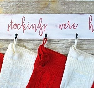 Farmhouse Christmas Stocking Hanger Wall Mount 0 300x281