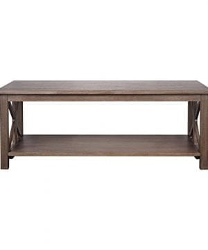 Farmhouse Style Coffee Table Solid Wood Rustic Weathered Gray East End Collection Living Room Furniture 0 0 300x360