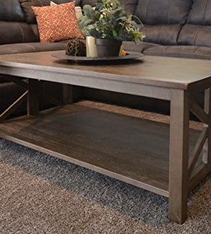 Farmhouse Style Coffee Table: Solid Wood Rustic - East End Collection -  Living Room Furniture