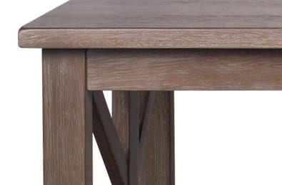 Farmhouse Style Coffee Table Solid Wood Rustic Weathered Gray East End Collection Living Room Furniture 0 2
