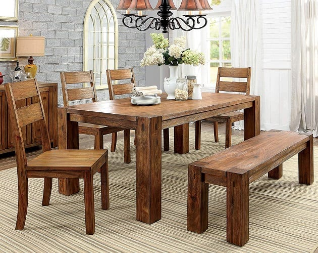 Furniture of America Clarks Farmhouse Dining Set