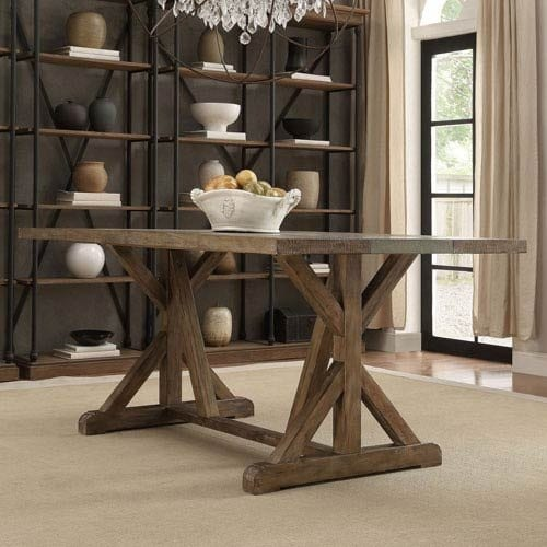 HomeHills Ellary Rustic Pine Dining Table