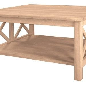 International Concepts OT 70SC Hampton Square Coffee Table Unfinished 0 300x297