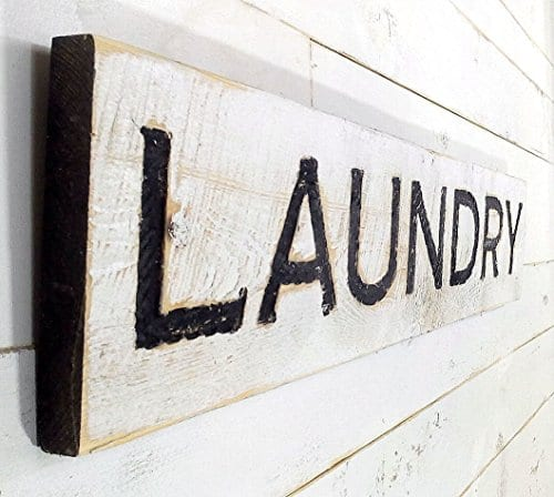 Laundry Sign Carved In A Cypress Board Rustic Distressed Shop Advertisement Farmhouse Style Room Wooden Wood Rustic Decoration 0 0