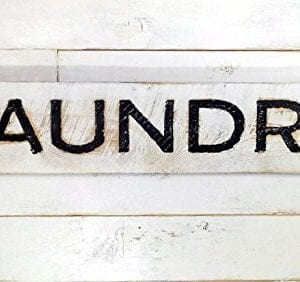 Laundry Sign Carved In A Cypress Board Rustic Distressed Shop Advertisement Farmhouse Style Room Wooden Wood Rustic Decoration 0 1 300x282