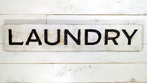 Laundry Sign Carved In A Cypress Board Rustic Distressed Shop Advertisement Farmhouse Style Room Wooden Wood Rustic Decoration 0 1